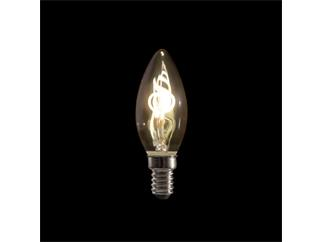Showtec LED Filament Candle Bulb E14, 2W, dimmbar, Gold-Glasabdeckung, B10