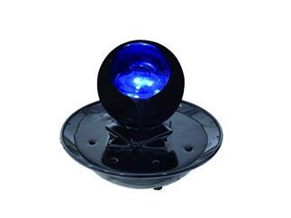 """Tischbrunnen """"Magisches Auge"""", hochglanz Schwarz mit LED"""