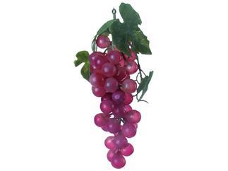Europalms Trauben mit Blättern, rot - Kunstpflanze