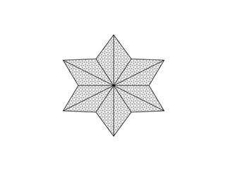 Europalms Dekonetz Stern Durchmesser = 5m