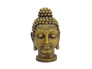 Europalms Buddhakopf, antik-gold, 75cm