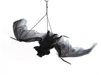 Europalms Halloween Fledermaus groß Spannweite 120cm, hängend