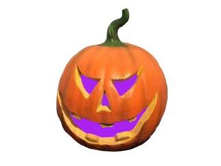 EUROPALMS Halloween Kürbis mit Farbwechsler, 29x26x26cm