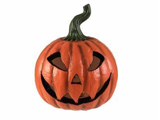EUROPALMS Halloween Kürbis beleuchtet, 24x21x21cm
