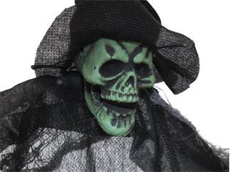EUROPALMS Halloween Geist, schwarz, 60cm