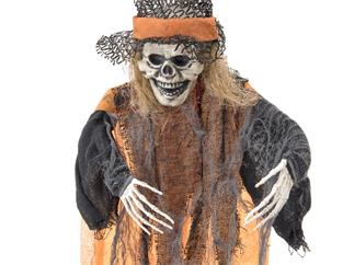 EUROPALMS Halloween Hexe, orange, 90cm