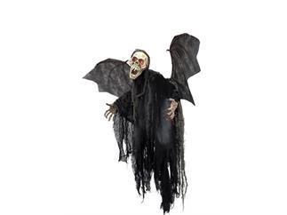 """Europalms Halloween-Figur """"Bat Ghost"""" mit roten LED-Augen Größe 85cm"""