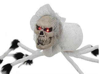 EUROPALMS Halloween Spinne Braut weiß