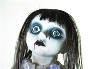 Europalms Puppe animiert stehend - Halloween-Dekofigur Puppe