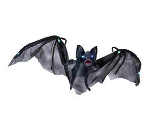 Europalms Halloween Fledermaus mit Licht-, Sound-, und Bewegungseffekten