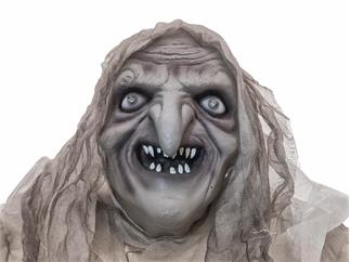 EUROPALMS Halloween Hexe, weiß, 170x50x20cm