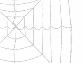 EUROPALMS Halloween Spinnennetz, 180x180 cm