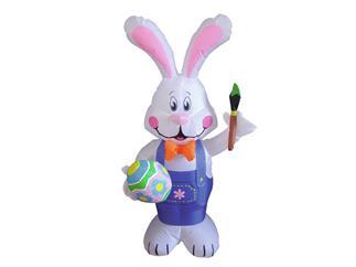 Europalms Aufblasbare Figur Bunny Benny Osterhase, 120cm