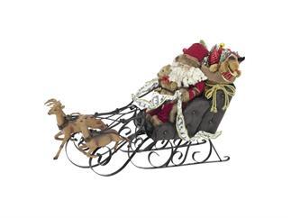 Weihnachtsschlitten, mit Rentieren, 75cm