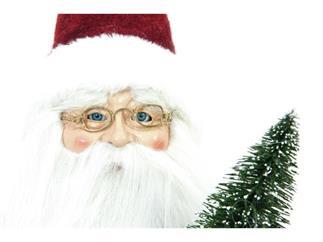 Europalms Weihnachtsmann mit Bäumchen, ca. 45cm