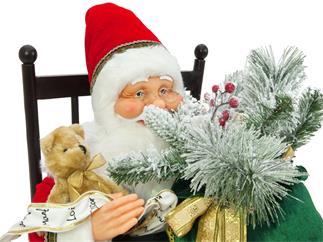 Europalms Weihnachtsmann mit Schaukelstuhl, 80cm