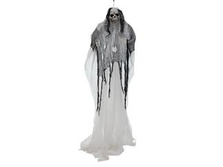 Europalms Halloween Figur Weiße Frau, selbstleuchtend, 210cm