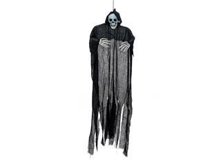 Europalms Halloween Figur Schwarzes Skelett, selbstleuchtend, 130cm