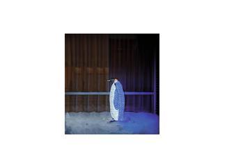 EUROPALMS LED-PINGUIN weiblich weiß-blau mit 1272 LEDs