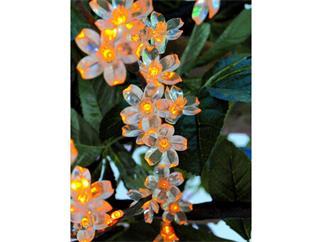 LED-Blütenzweig 1,2m IP44 160 LED, orange