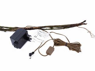 Torfmyrte-Ranke weiß 180cm 20 LEDs