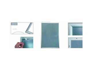 Werbeklapprahmen DIN A0 Aluminium ca 112x 84 cm