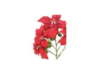 EUROPALMS Weihnachtsstern-Busch, rot, Kunstpflanze 60cm