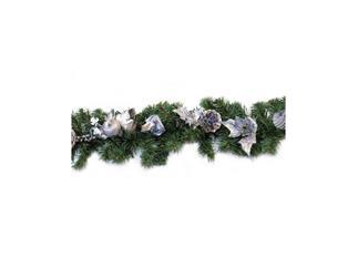 Weihnachtsgirlande silberblau 1,80m