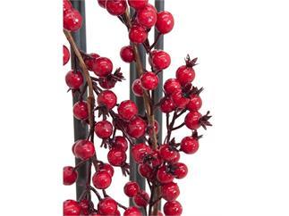 Europalms Beerengirlande rot 180cm - mit roten Beeren