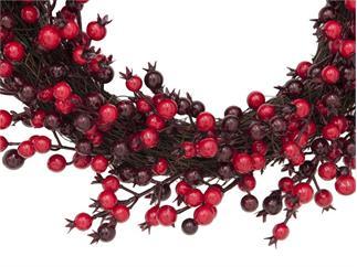 Europalms Beerenkranz gemischt 46cm - mit Beeren in verschiedenen Rottönen