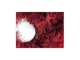 Europalms Kunststoff Tannenbaum Futura rot-metallic / Weihnachtsbaum / Christbaum 210cm
