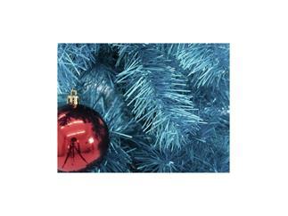Europalms Kunststoff Tannenbaum Futura türkis-metallic / Weihnachtsbaum / Christbaum 210cm