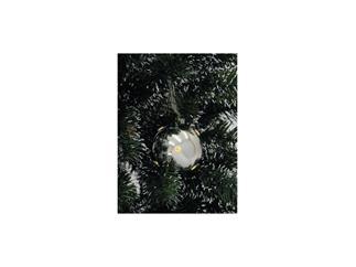 LED Weihnachtskugel 6cm,silber (6 St.)