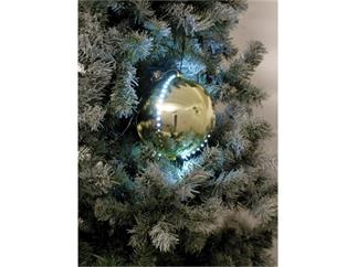 5x Europalms LED Christbaumkugel 8cm, gold