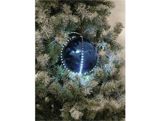 5x Europalms LED Christbaumkugel 8cm, dunkelblau