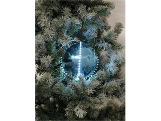 Europalms LED Christbaumkugel 15cm, eisblau