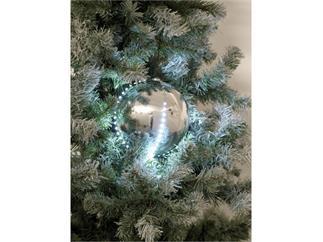 Europalms LED Christbaumkugel 15cm, silber