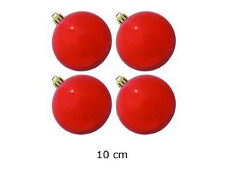 4x Europalms Christbaumkugel 10cm, rot