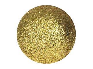 EUROPALMS Dekokugel 6cm, gold, glitzer (6 Stk)
