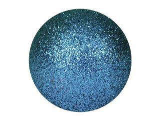 EUROPALMS Dekokugel 6cm, blau, glitzer (6 Stk)