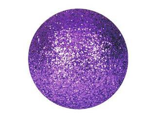 EUROPALMS Dekokugel 6cm, violett, glitzer (6 Stk)