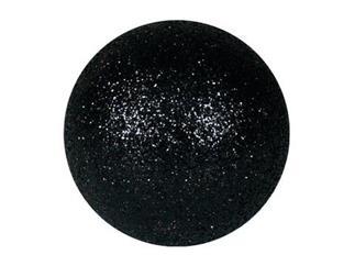 EUROPALMS Dekokugel 6cm, schwarz, glitzer (6 Stk)