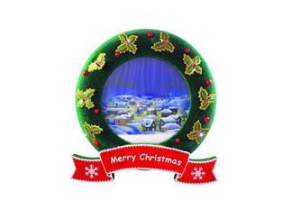 Verschneiter Weihnachtskranz