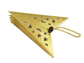 Europalms Stern Laterne, Papier, gold, 75 cm