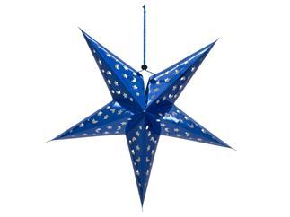 Europalms Stern Laterne, Papier blau, 75 cm