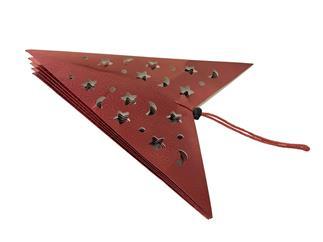 Europalms Stern Laterne, Papier, rot, 40 cm