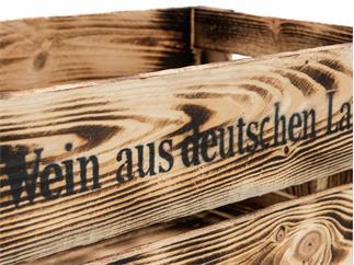 EUROPALMS Weinkiste geflammt & lackiert