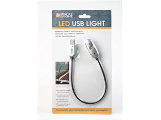 König & Meyer 85681 1 LED USB Light »Mighty Bright« - silber