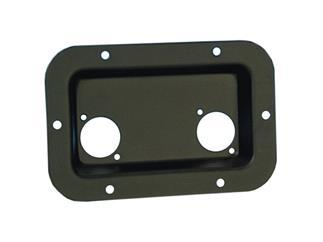 Adam Hall Hardware 8708 BLKEinbauschale schwarz für 2 XLR oder Speakon Buchsen