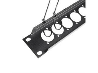 """Adam 19"""" Parts 872225 - U-Rackblende 1 HE für 16 x XLR Buchsen mit Zugentlastung"""